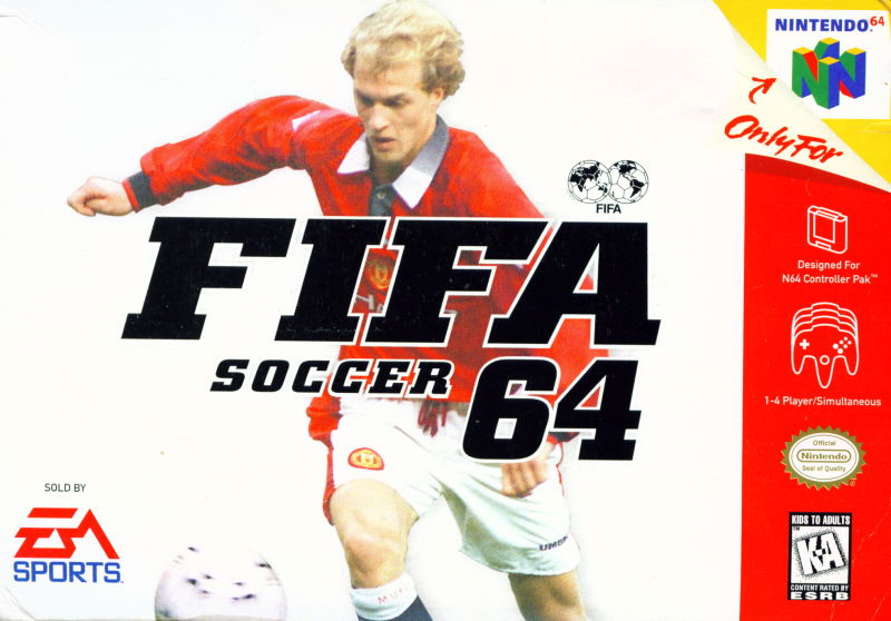 FIFA Soccer 64 Nintendo 64 Front Cover