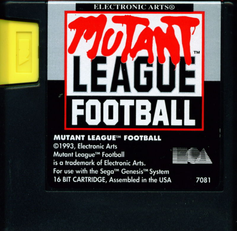 Mutant League Football Genesis Media