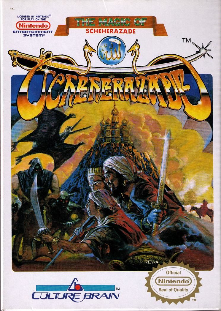 The Magic of Scheherazade NES Front Cover