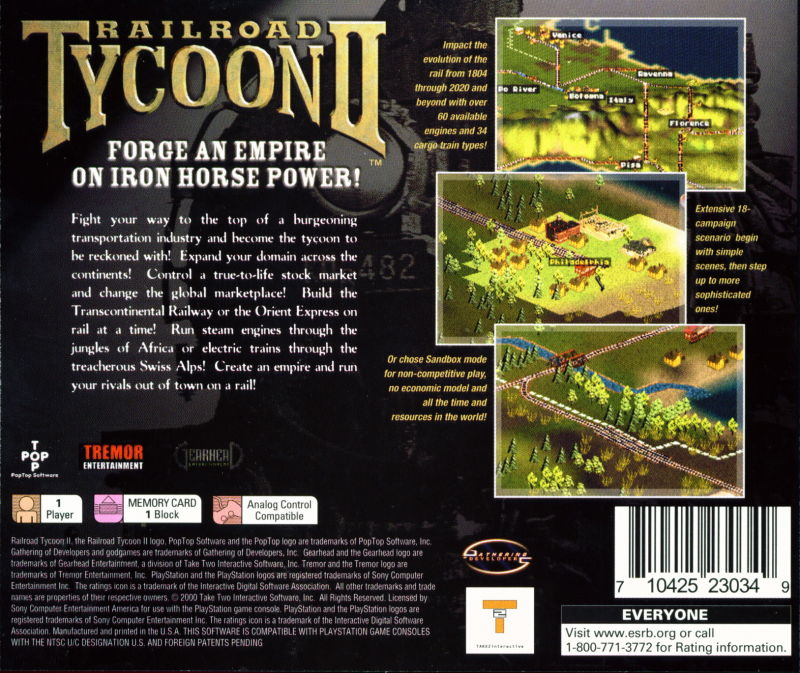 Railroad Tycoon II (1999) Linux box cover art - MobyGames
