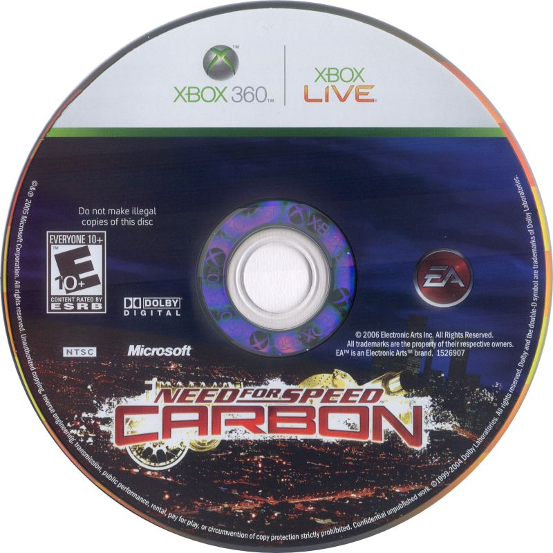 Need for Speed: Carbon (2006) Xbox 360 box cover art - MobyGames