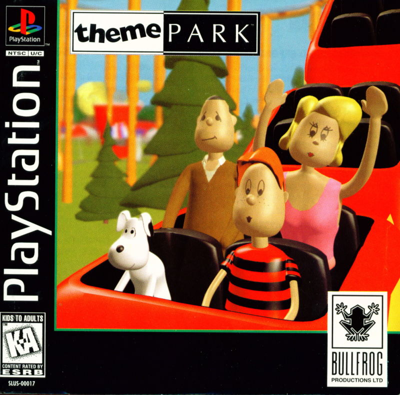Theme Park PlayStation Front Cover