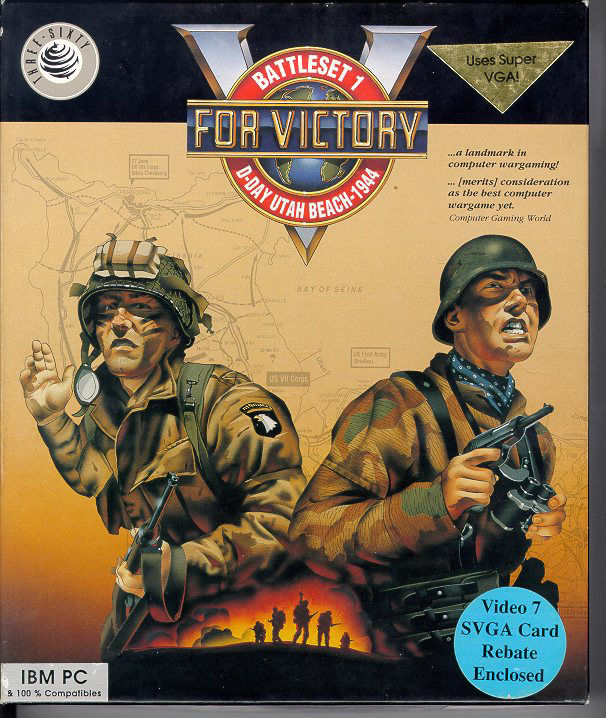 V for Victory: Battleset 1 - D-Day Utah Beach - 1944 DOS Front Cover
