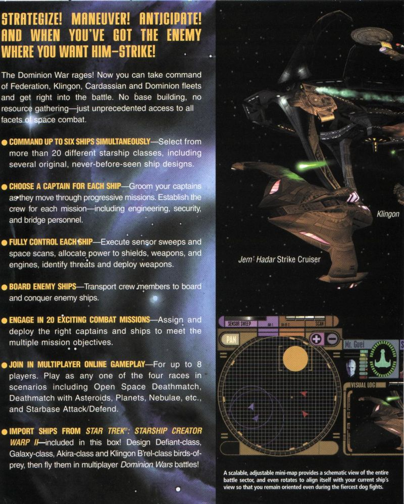 Star Trek: Deep Space Nine - Dominion Wars Windows Inside Cover Left Flap