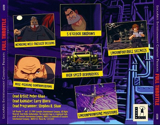 Full Throttle DOS Inside Cover