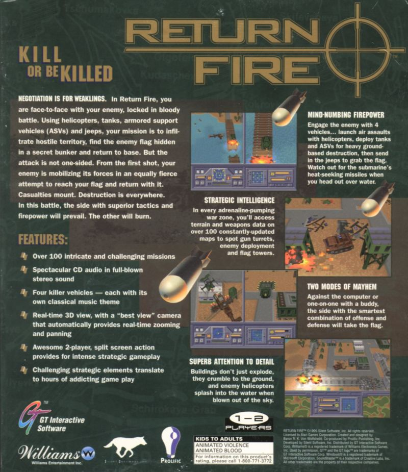 Return Fire Windows Back Cover