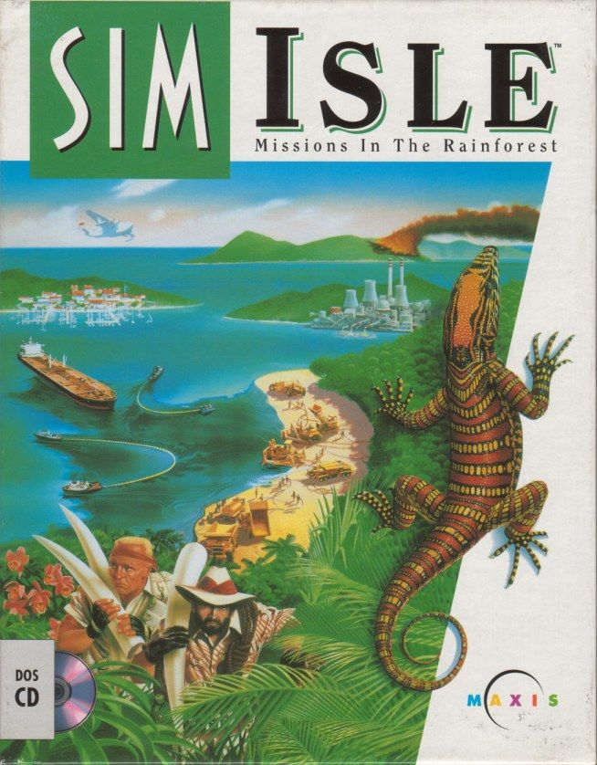 SimIsle: Missions in the Rainforest DOS Front Cover