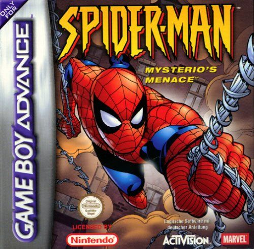 Spider-Man: Mysterio's Menace Game Boy Advance Front Cover Europe