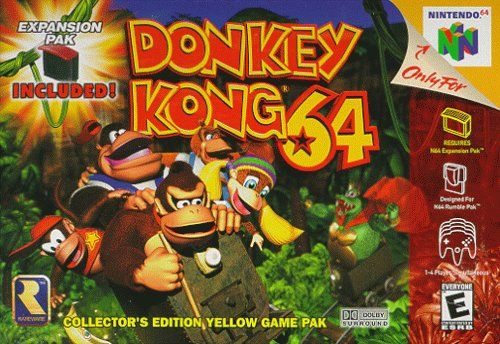Donkey Kong 64 Nintendo 64 Front Cover