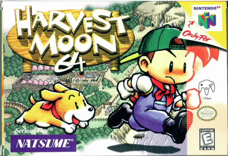 Harvest Moon 64 Nintendo 64 Front Cover