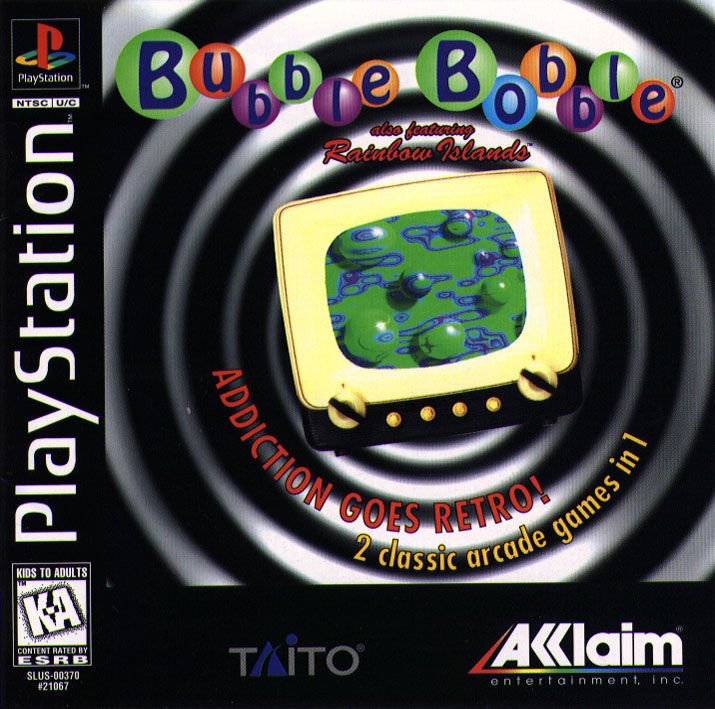 Bubble Bobble also featuring Rainbow Islands PlayStation Front Cover