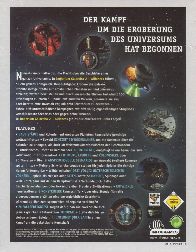 Imperium Galactica II: Alliances Windows Back Cover