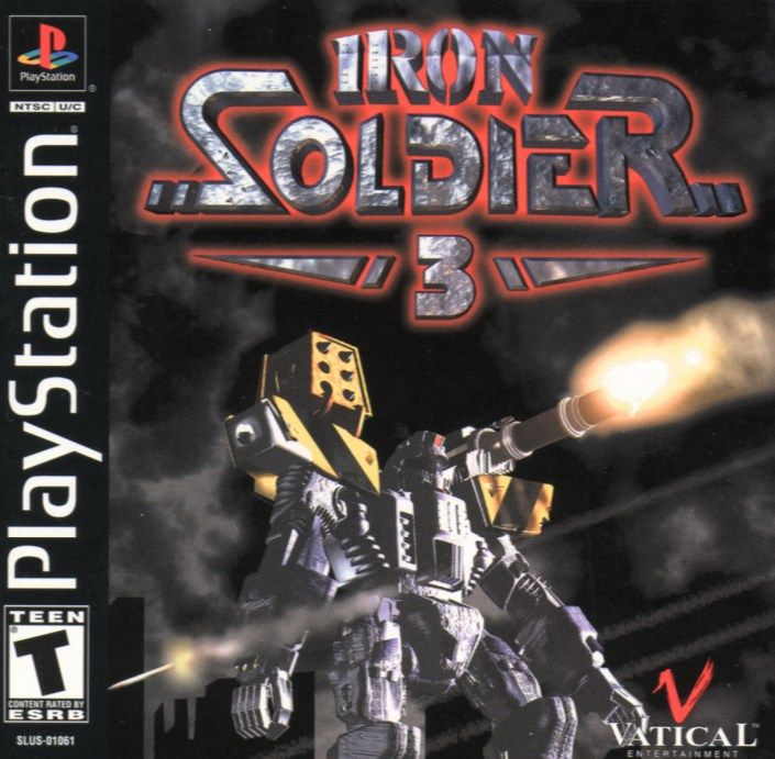Iron Soldier 3 PlayStation Front Cover