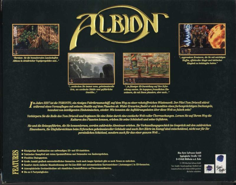 Albion DOS Back Cover