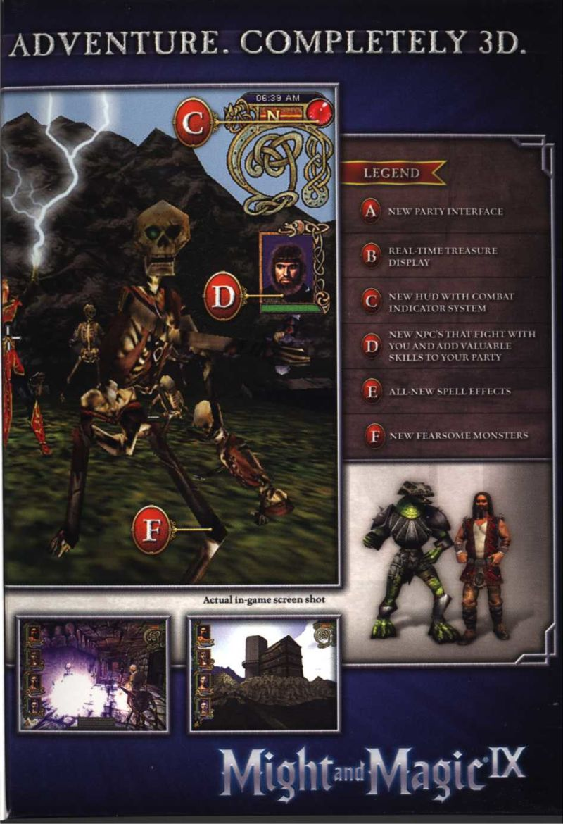 Might and Magic IX Windows Inside Cover Right Flap