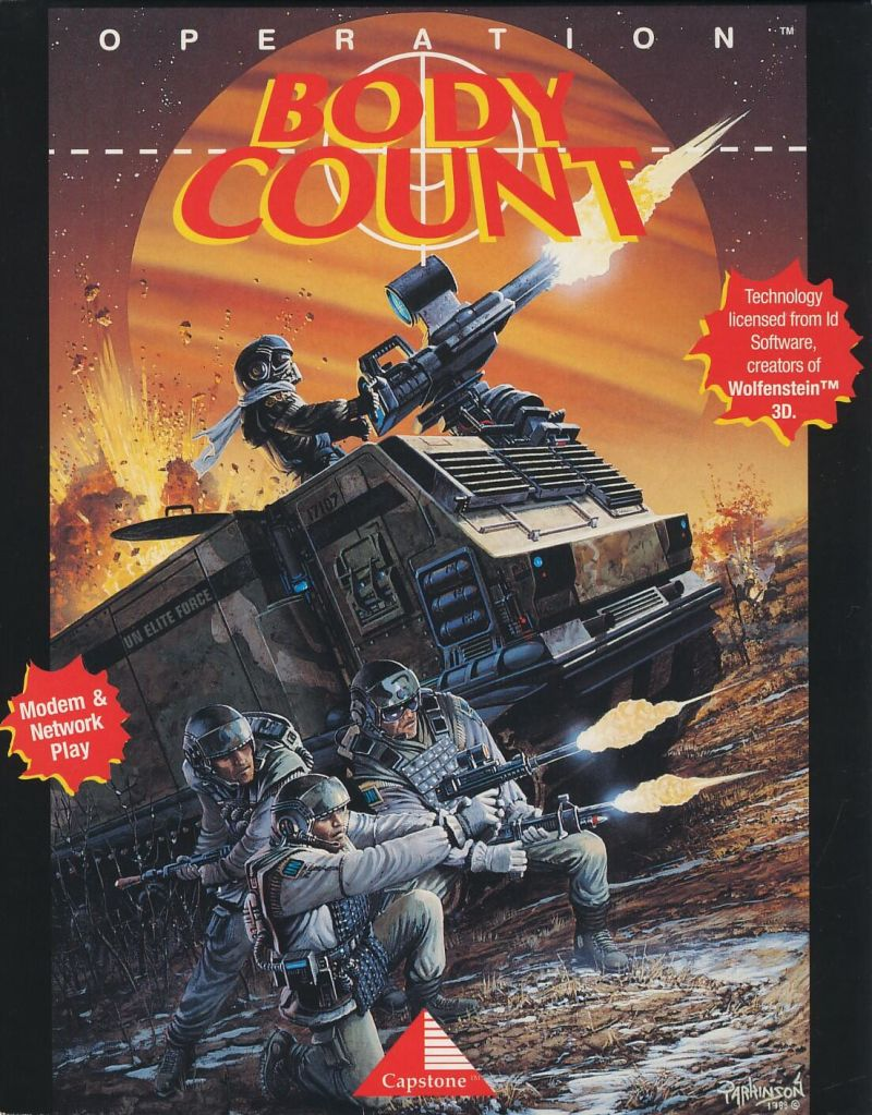Operation Body Count DOS Front Cover