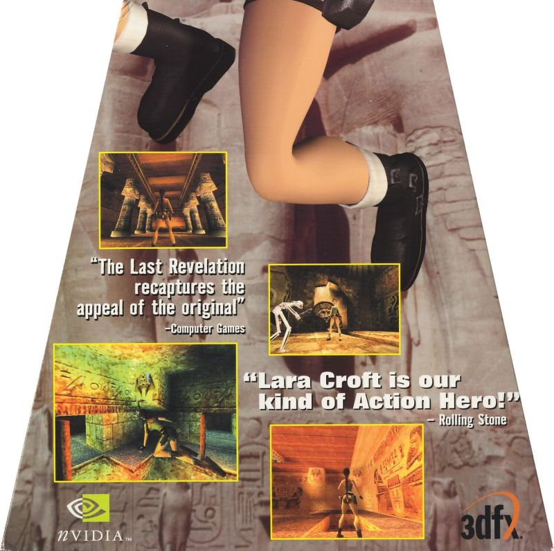 Tomb Raider: The Last Revelation Windows Inside Cover Lower Flap