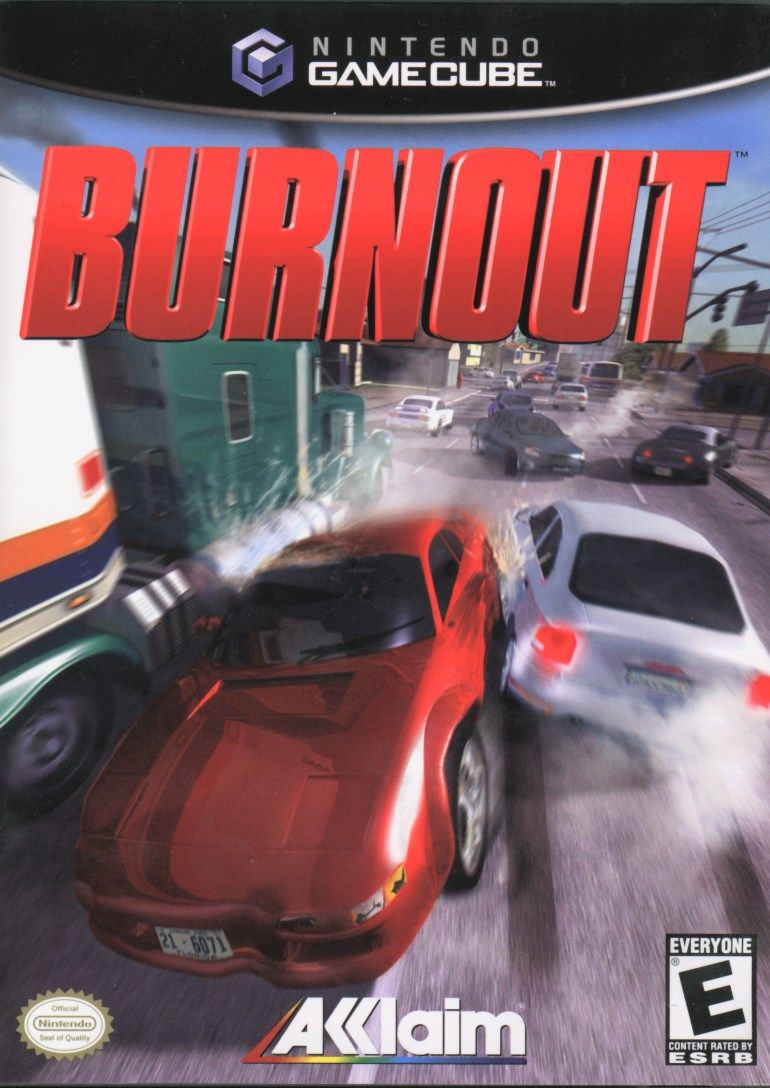 Burnout GameCube Front Cover