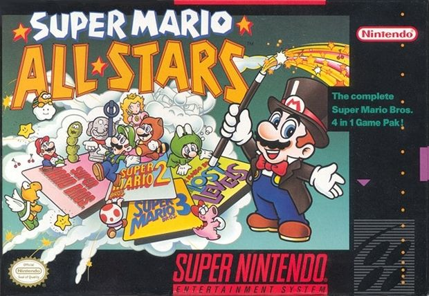 Super Mario All-Stars SNES Front Cover