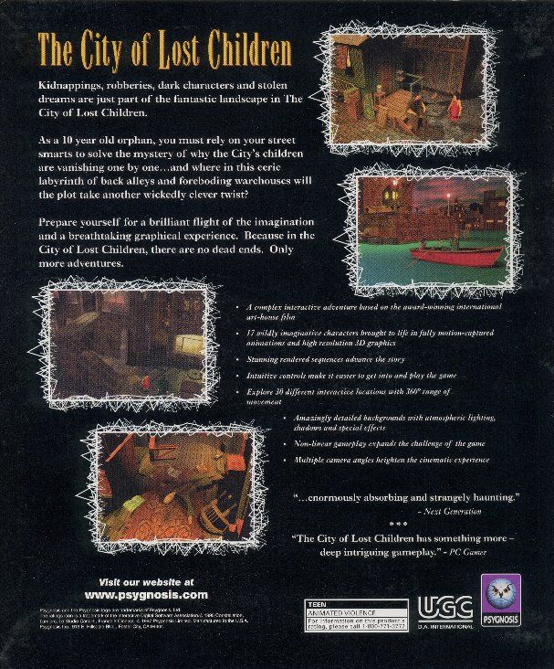 The City of Lost Children DOS Back Cover