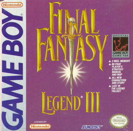 Final Fantasy Legend III Game Boy Front Cover