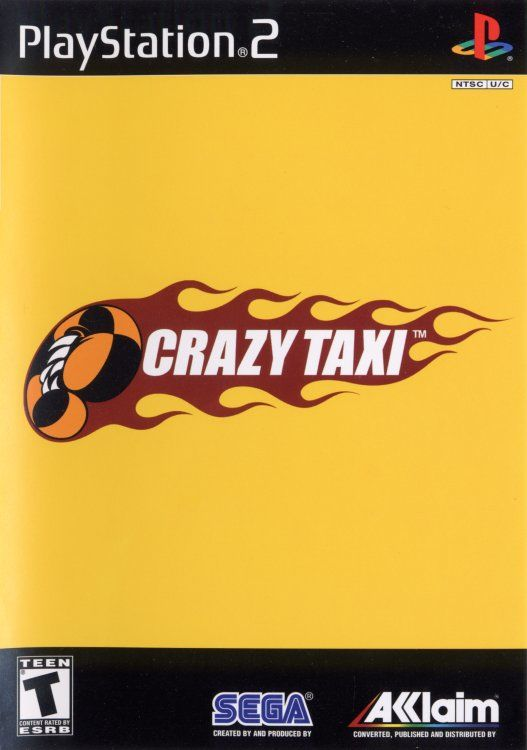 Crazy Taxi PlayStation 2 Front Cover