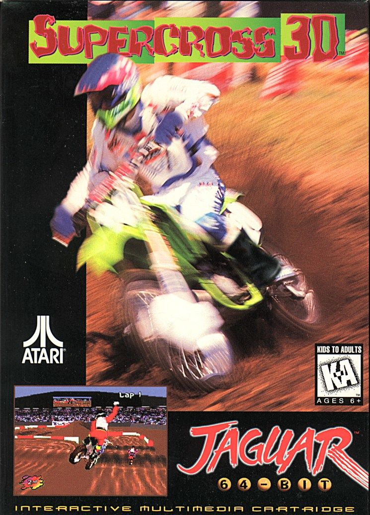 Supercross 3D Jaguar Front Cover