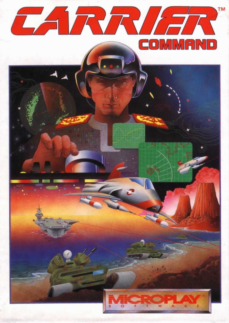 Carrier Command DOS Front Cover