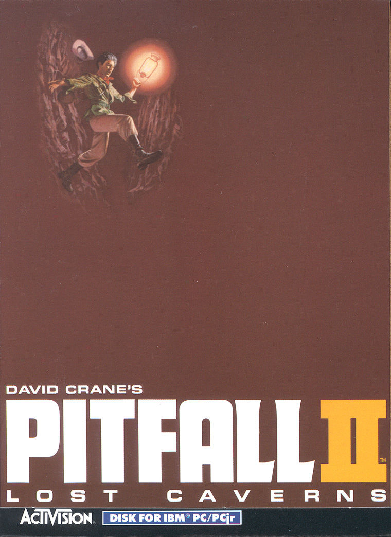 Pitfall II: Lost Caverns PC Booter Front Cover