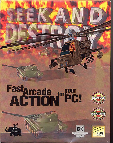 Seek and Destroy DOS Front Cover