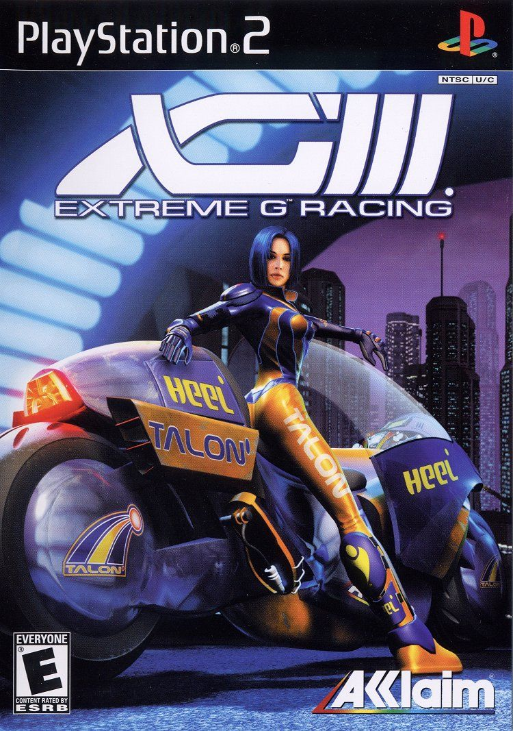 XGIII: Extreme G Racing PlayStation 2 Front Cover
