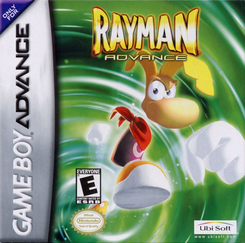 Rayman Game Boy Advance Front Cover