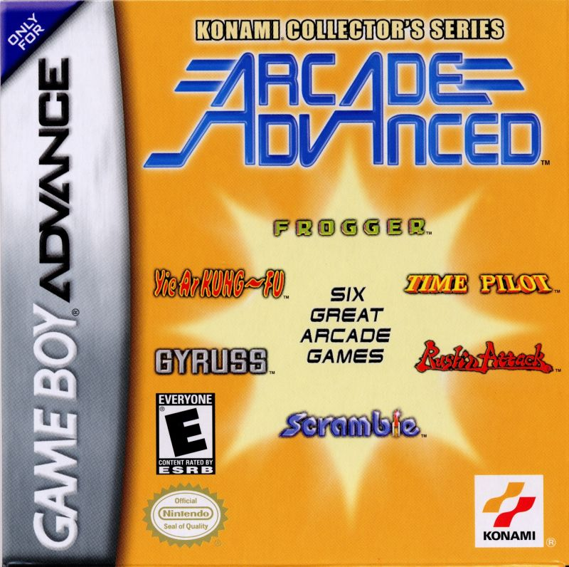 Konami Collector's Series: Arcade Advanced Game Boy Advance Front Cover