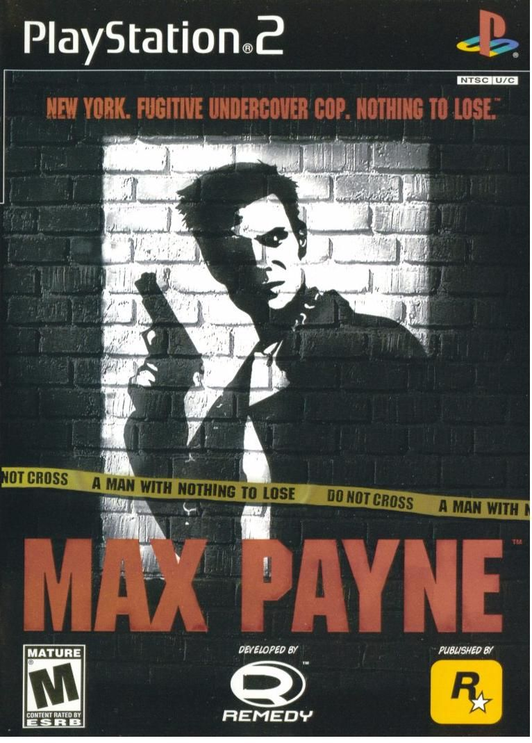 Max Payne PlayStation 2 Front Cover