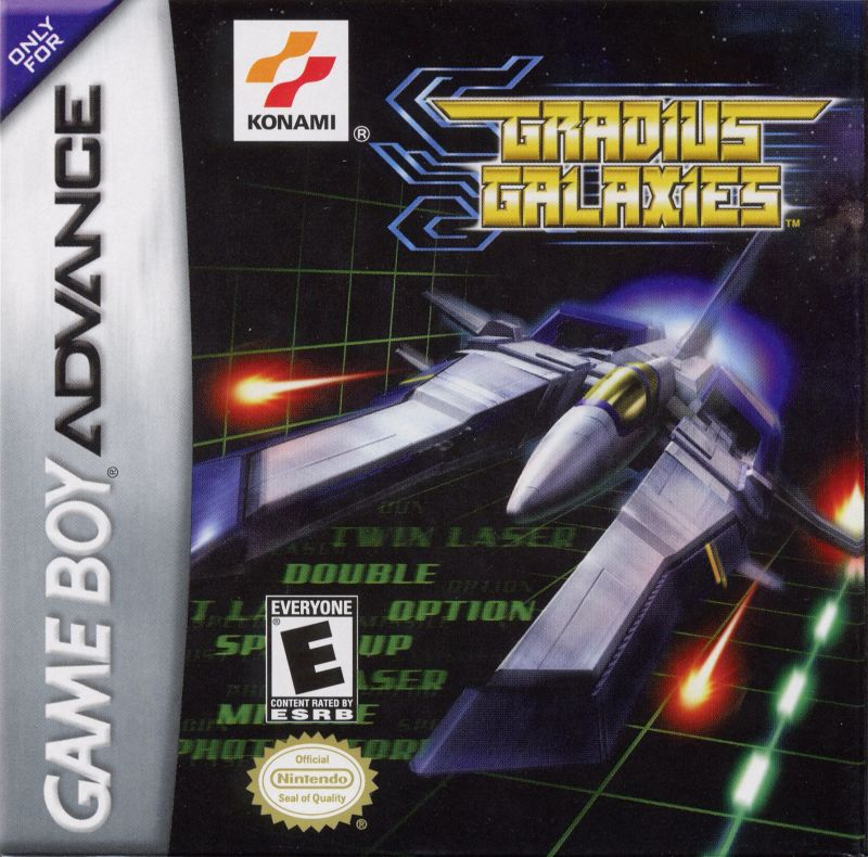 Gradius Galaxies Game Boy Advance Front Cover