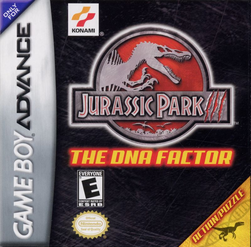 Jurassic Park III: The DNA Factor Game Boy Advance Front Cover