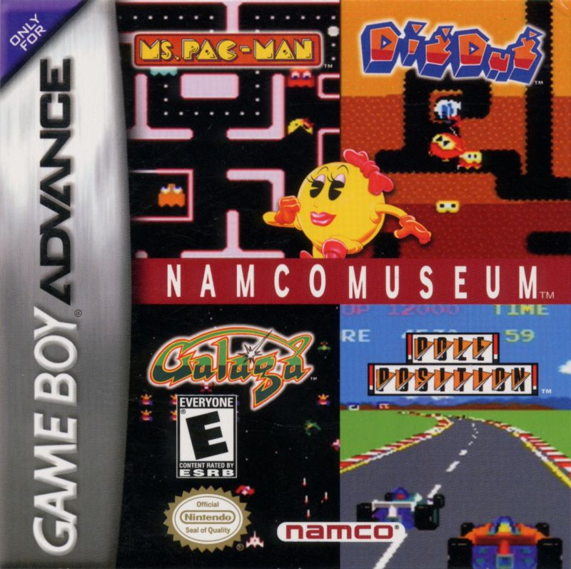 Namco Museum Game Boy Advance Front Cover
