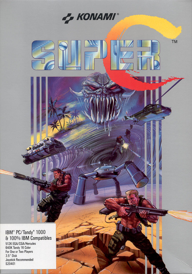 Super Contra DOS Front Cover