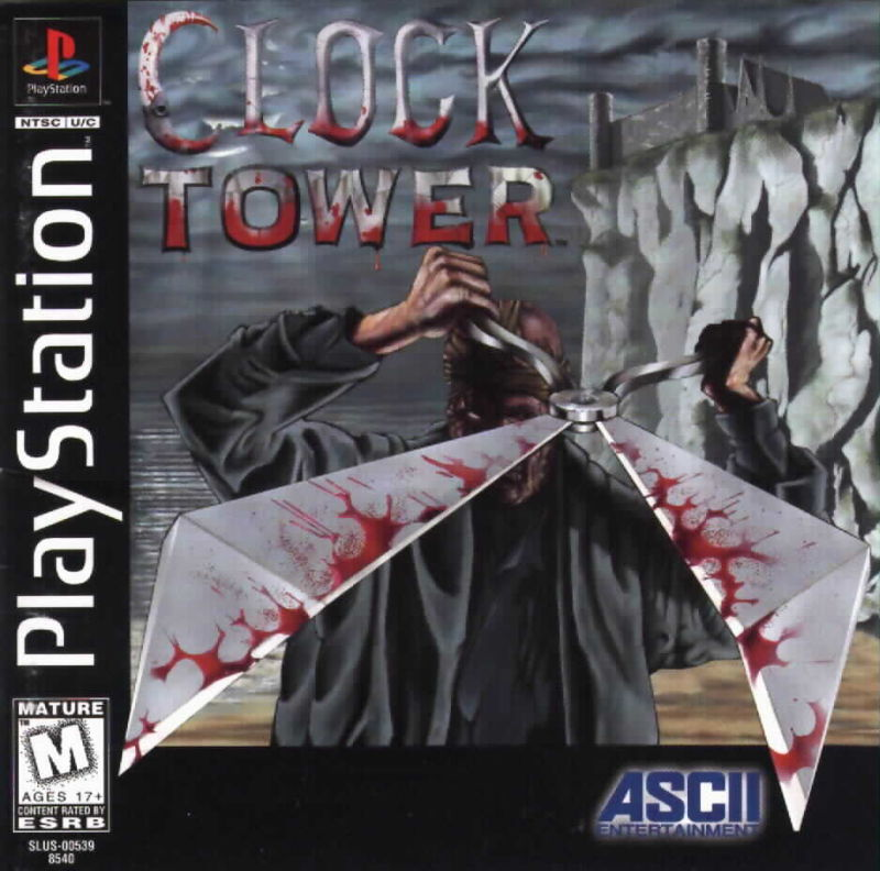 Clock Tower PlayStation Front Cover