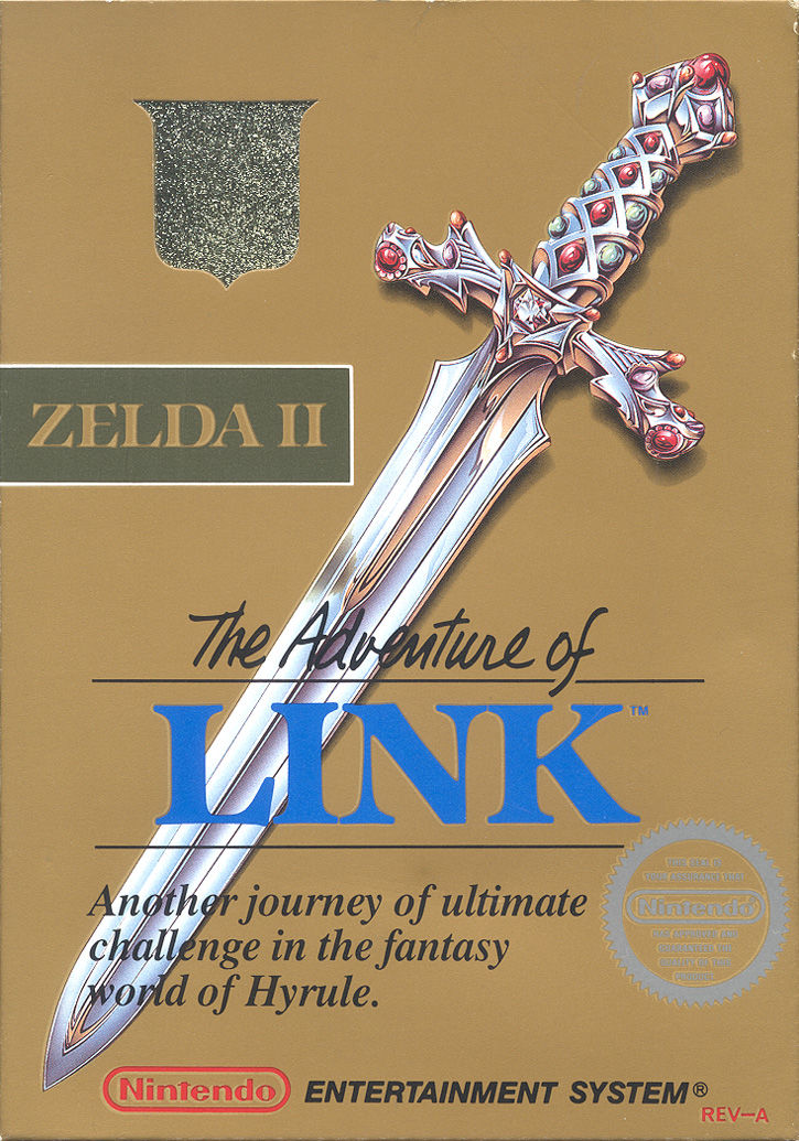 Zelda II: The Adventure of Link NES Front Cover