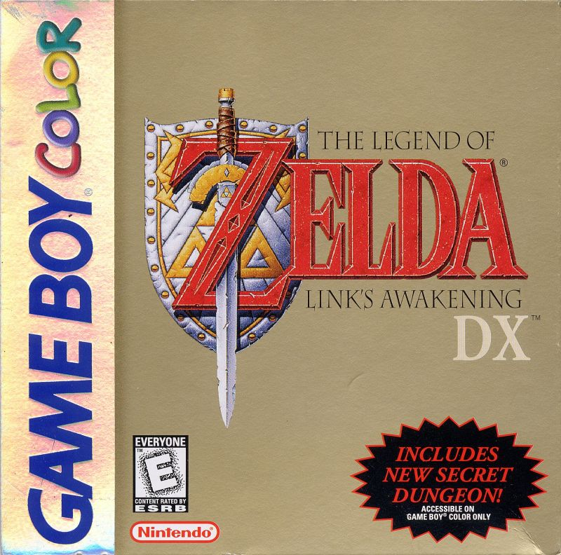 The Legend of Zelda: Link's Awakening DX Game Boy Color Front Cover