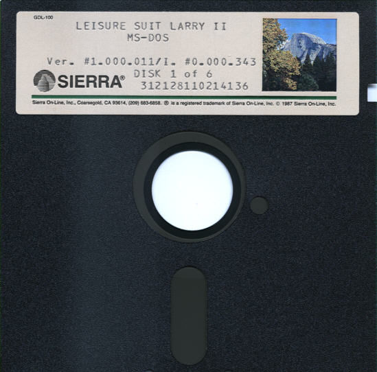 Leisure Suit Larry Goes Looking for Love (In Several Wrong Places) DOS Media Disk 1/6
