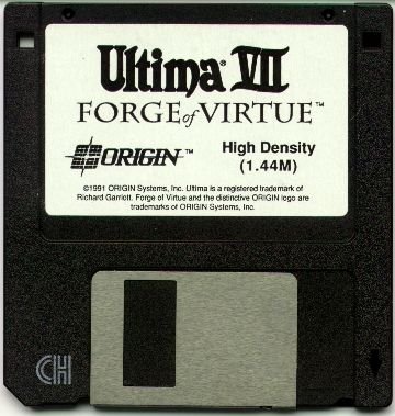 Ultima VII: Forge of Virtue DOS Media