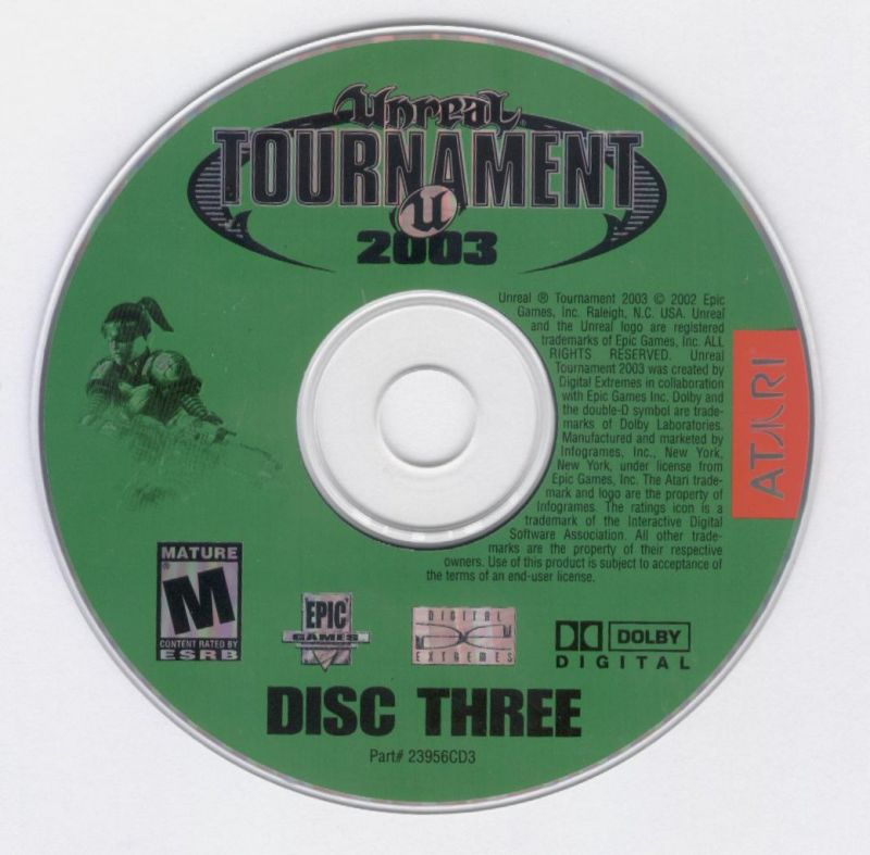 Unreal Tournament 2003 Windows Media Disc 3
