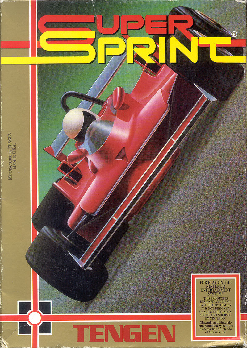 Super Sprint NES Front Cover