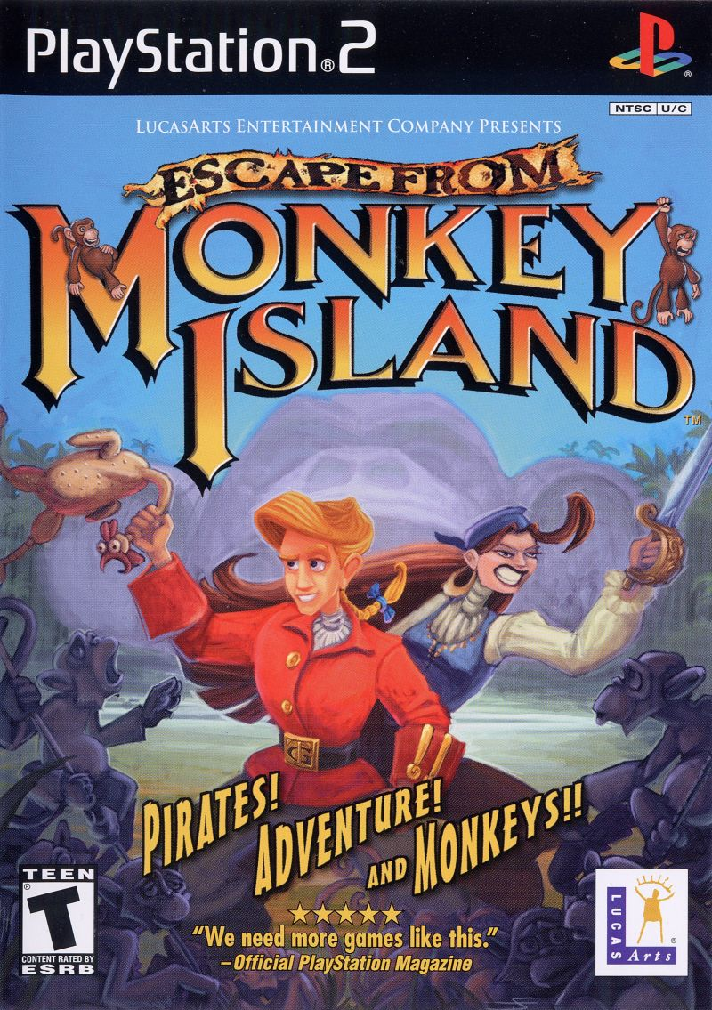 Escape from Monkey Island PlayStation 2 Front Cover
