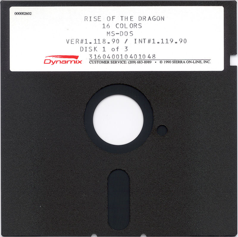 Rise of the Dragon DOS Media