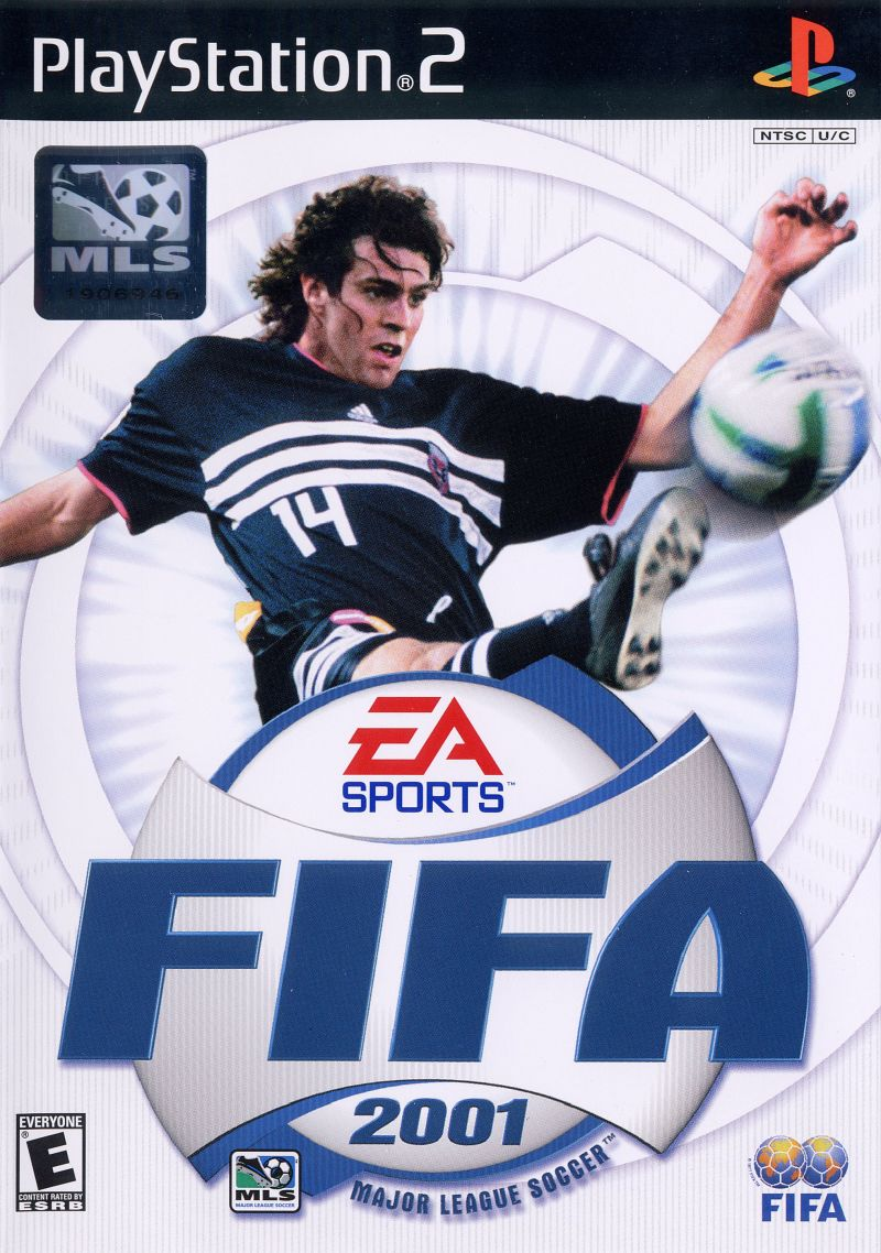FIFA 2001 PlayStation 2 Front Cover