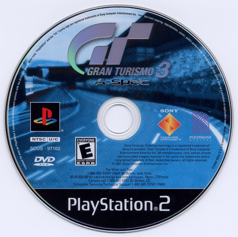 Gran Turismo 3 A-Spec PlayStation 2 Media
