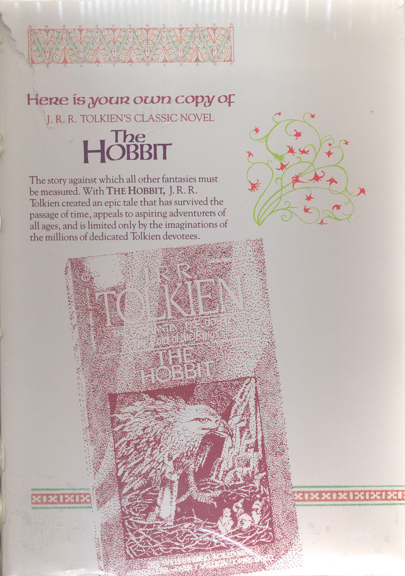 The Hobbit PC Booter Inside Cover